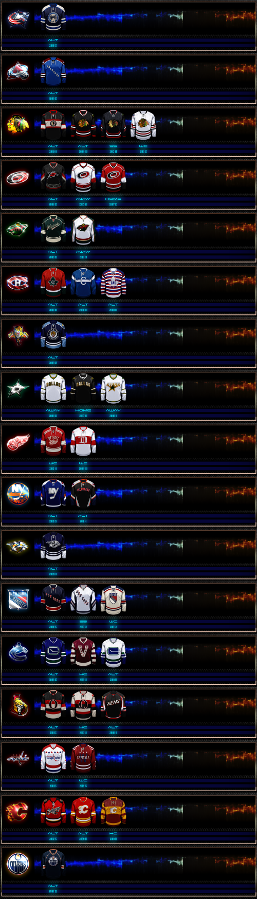 Screenshot for NHL Alternate Jerseys Patch_part II