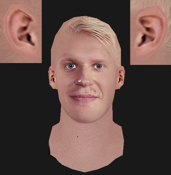REALISTIC EAR TEMPLATE FOR CYBERFACES