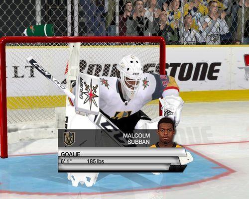 Скриншот для Goalie Vegas Malcolm Subban