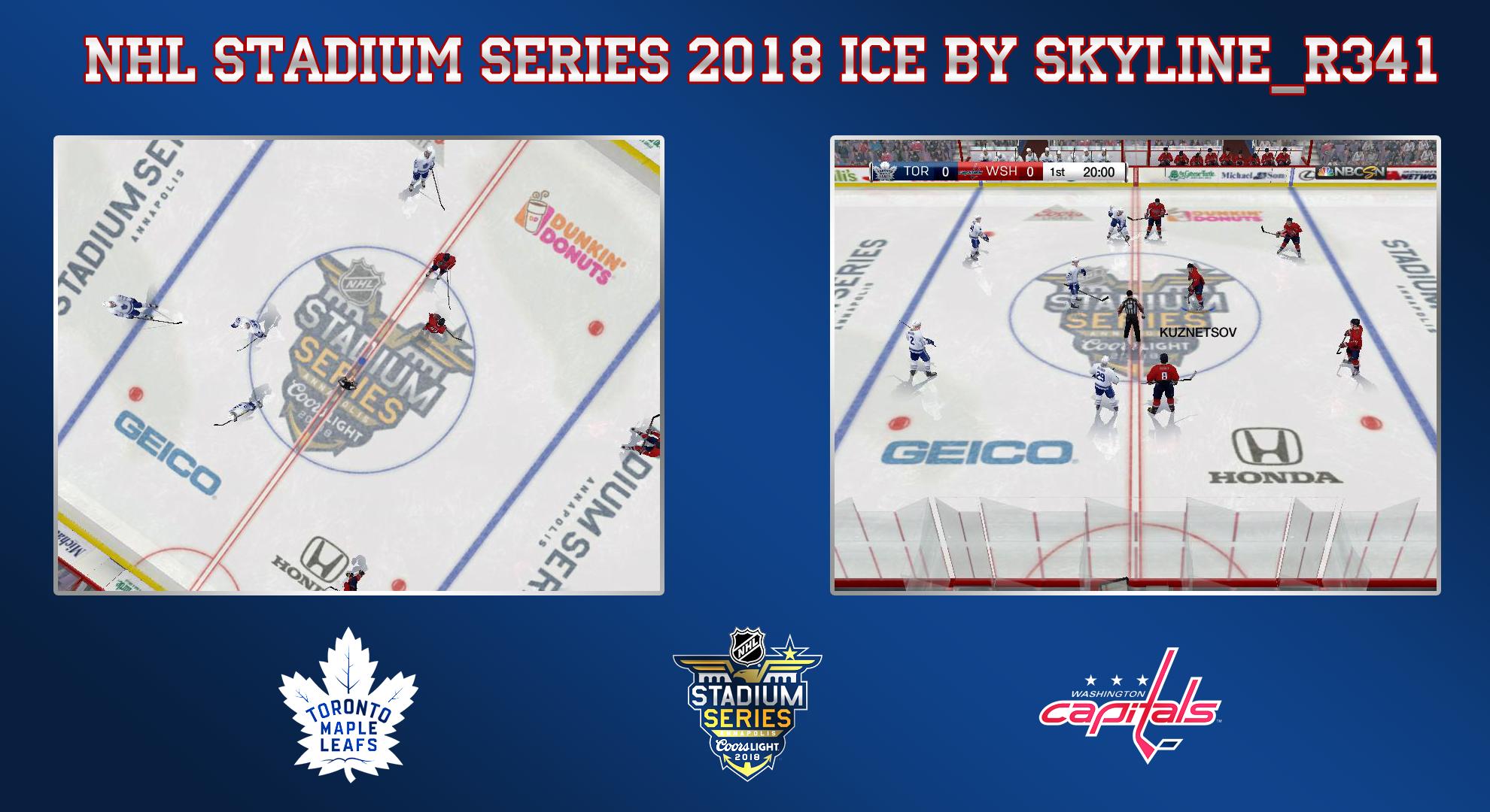 NHL Stadium Series 2018 Ice