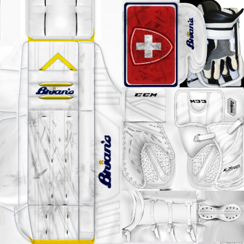 Скриншот для IIHF WC18: Switzerland - Gilles Senn (PNG)Gear Pack