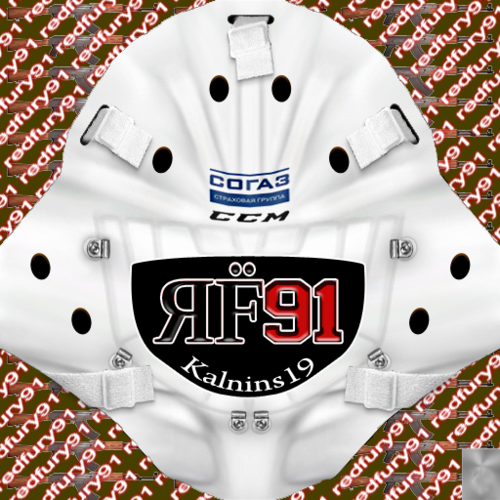 Скриншот для KHL Helsingin Jokerit Jānis Kalniņš (PNG) Goalie Pack