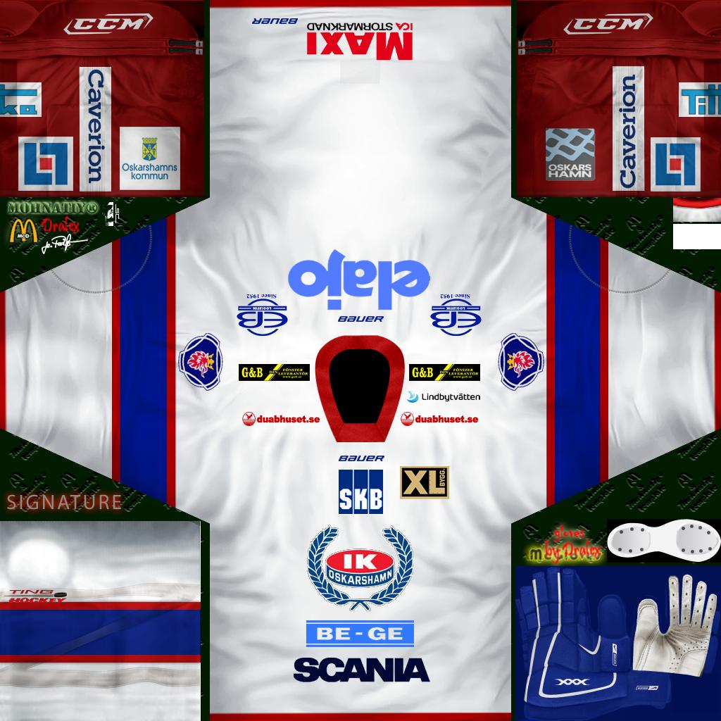 SHL/HockeyAllsvenskan IK Oskarshamn 2015 Jersey Pack