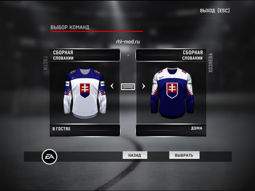 Screenshot for Jerseys team Slovakia IIHF 2019
