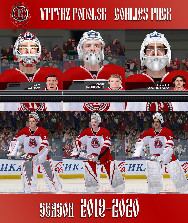 KHL 2020 VITYAZ PODOLSK GOALIES PACK