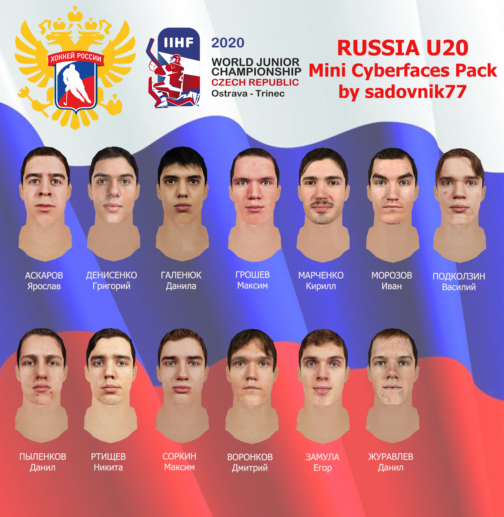 Russia U 20 Mini Cyberfaces Pack